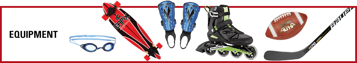 Clearance sports equipment at Sports Experts